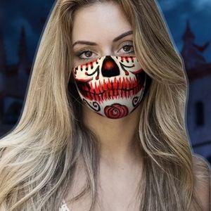 Last chance 2pc sugar skull mask & filter Red rose